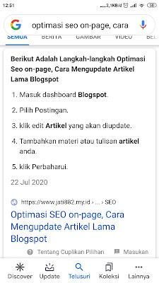 Optimasi SEO on-page, Cara Mengupdate Artikel Lama Blogspot