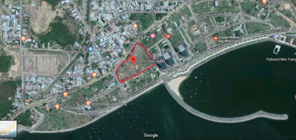 Vji trí dự án Crystal Marina Bay