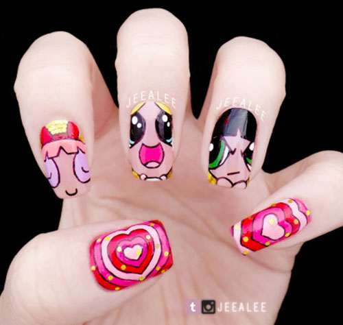 7  Comic Nail Art ideas by Jeealee