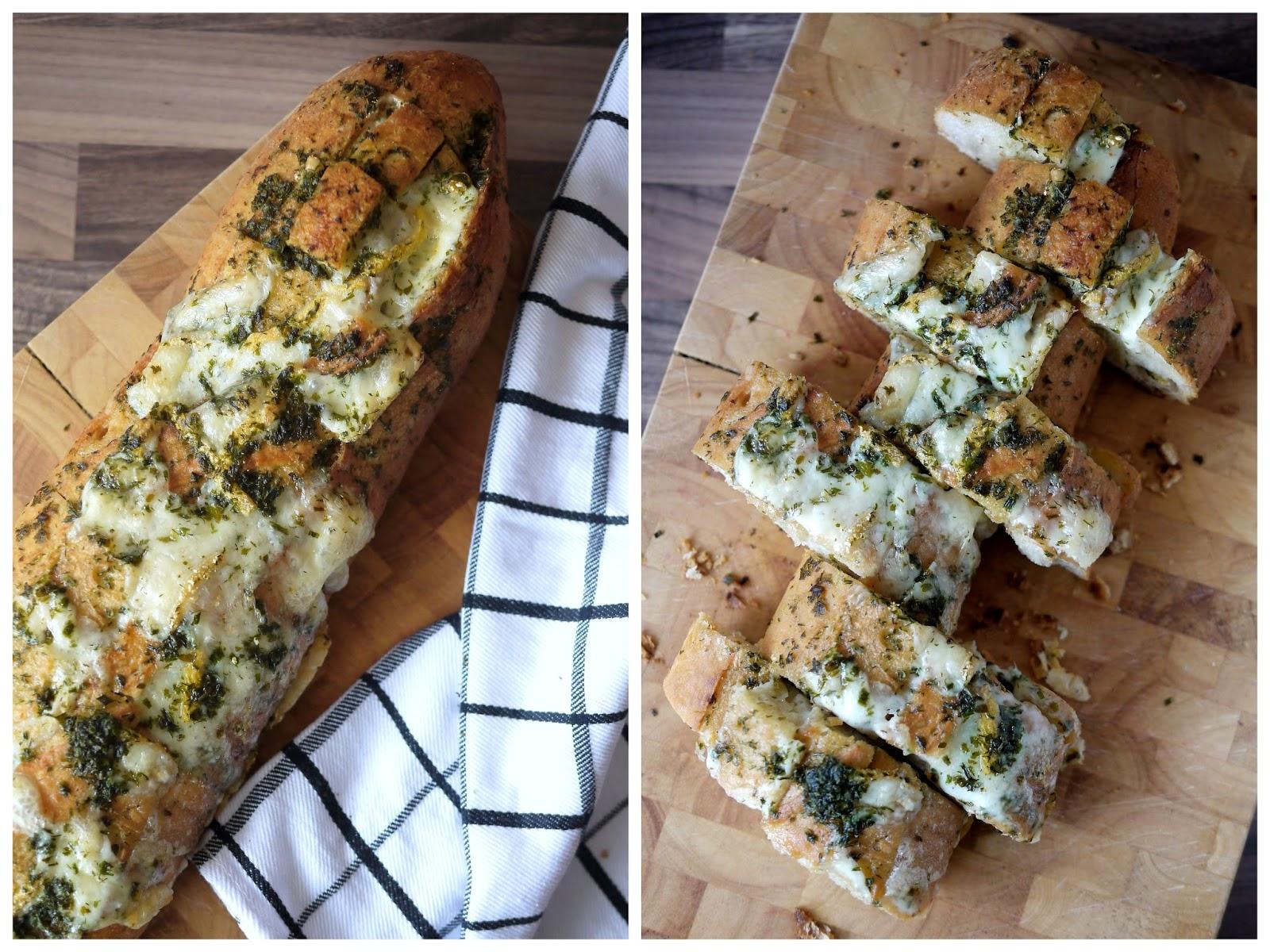 Experimente aus meiner Küche: Kräuter-Käse-Baguette