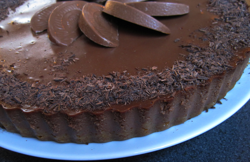 Dark Chocolate and Orange Cheesecake with Grand Marnier Liqueur