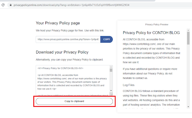 Cara buat About, Contact, Privacy Policy, Disclaimer di Blogger