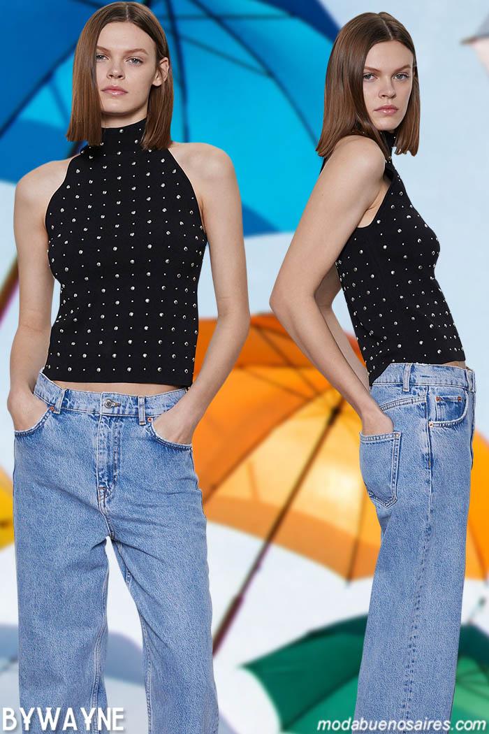 tops y jeans primavera verano 2021 moda