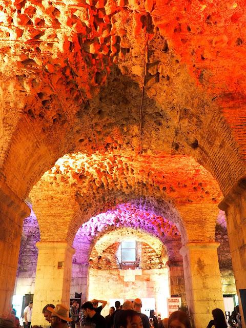 Basements under Diocletian's Palace, Split, Croatia