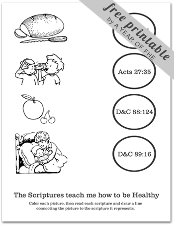 A Year of FHE: Year 03/Lesson 10: Healthy Eating & Exercise