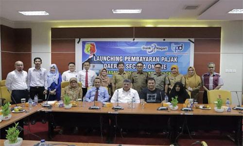 Pemko Solok Launching Pembayaran Pajak Daerah Secara Online