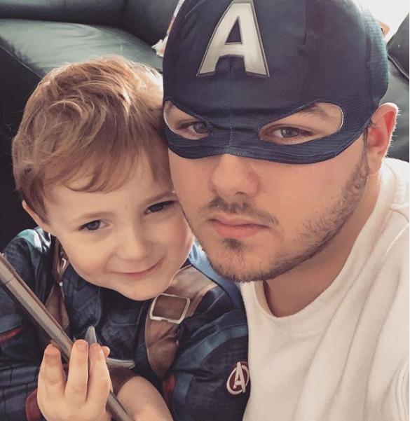 Declan J Donovan and nephew Ollie