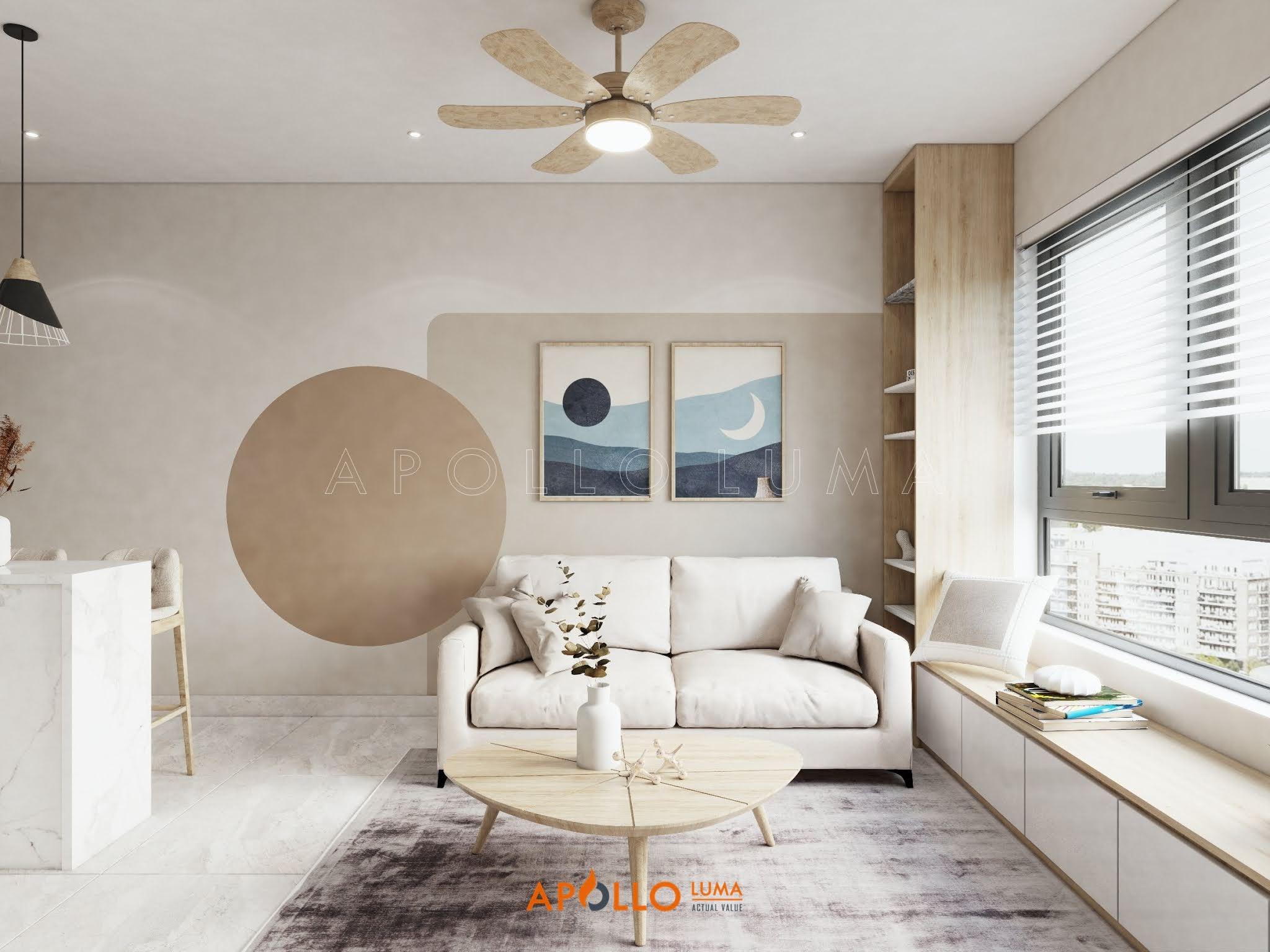 Thiết kế căn hộ 1 phòng ngủ (34m2) S3.03-xx06 Vinhomes Smart City