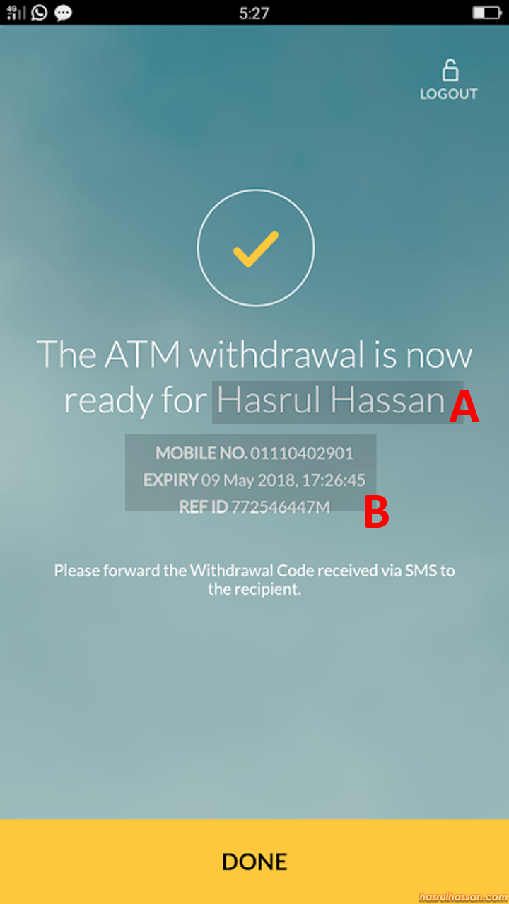 Cara Keluarkan Duit Tanpa Kad Guna Maybank2u App