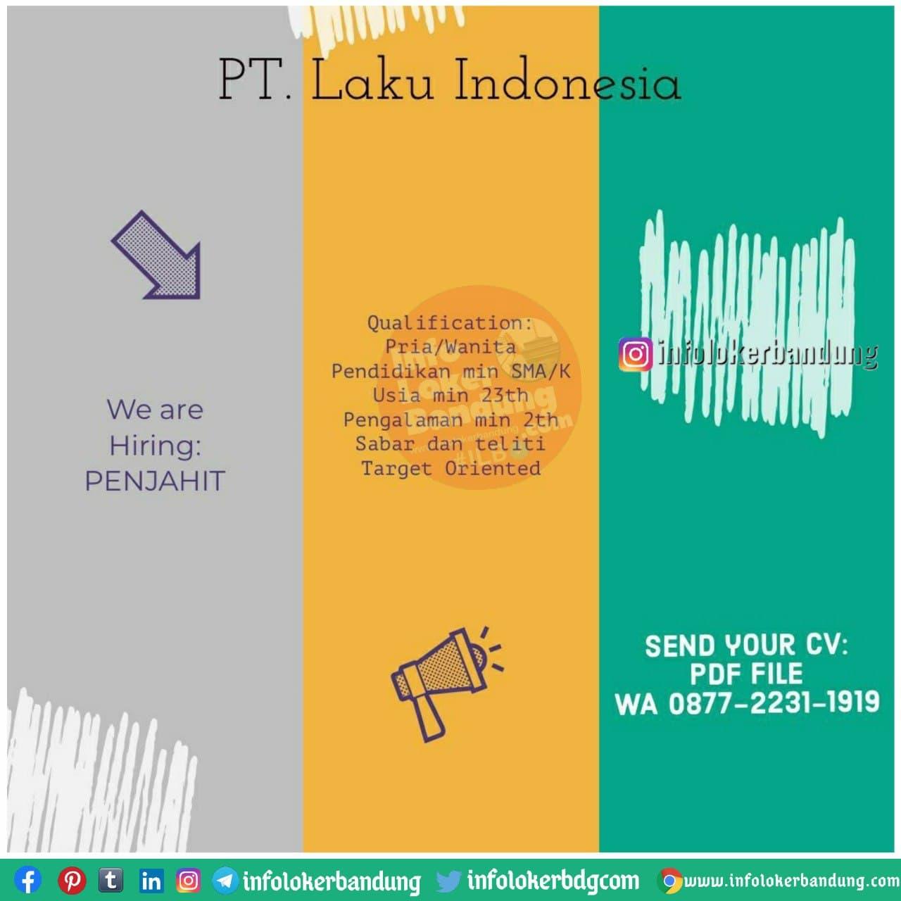 Lowongan Kerja PT. Laku Indonesia Bandung Desember 2020