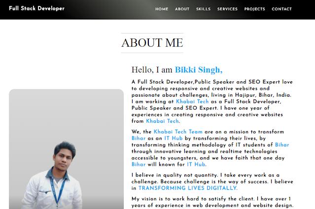 Bikki Singh Full Stack Developer