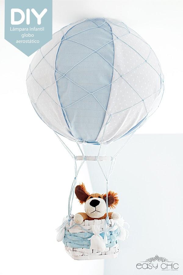 DIY lámpara infantil globo aerostático
