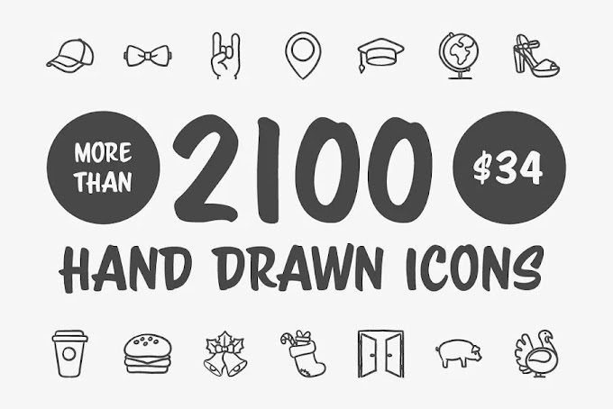 CreativeMarket Hand Drawn Vector Doodle Icon Set 1961606