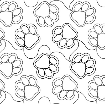 'Paw Prints' designed by Judy Vallely