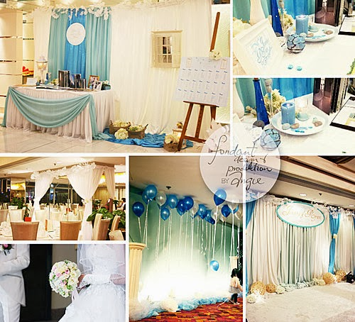 Wedding Decoration in Ocean Blue @Sha Tin Regal Riverside Hotel