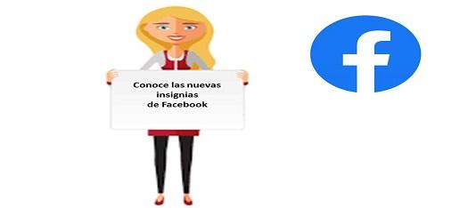 insignias de Facebook