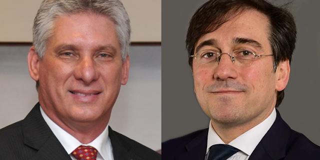 Díaz-Canel y José Manuel Albares