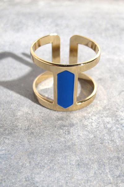 Bague Anne Thomas bijoux Reda bleu