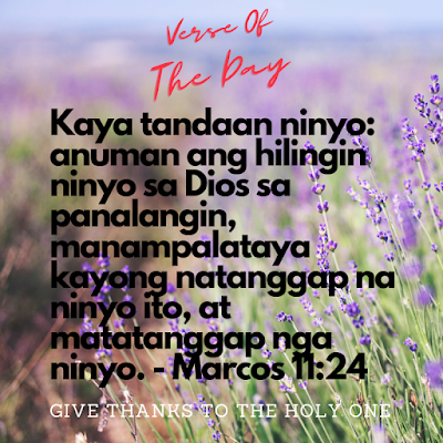 Bible Verse Of The Day Tagalog  September 22 2020  Give Thanks To The Holy One Photo