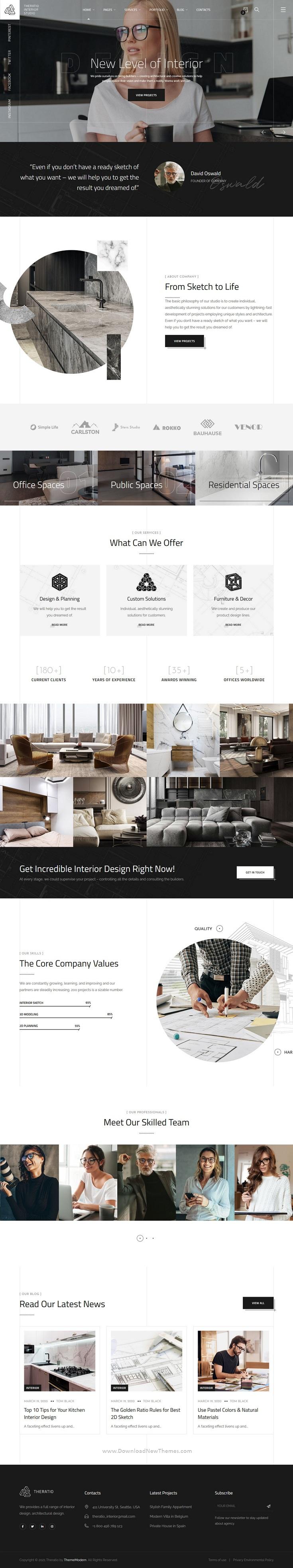 Interior Design and Architecture HTML5 Template