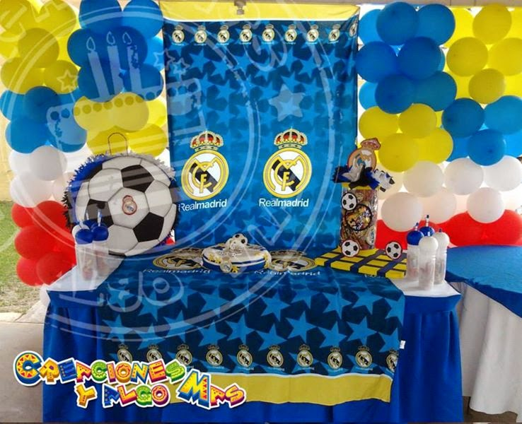 fiesta motivo real madrid real madrid party creaciones
