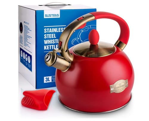 SUSTEAS Stove Top Whistling Tea Kettle-Surgical