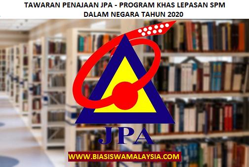 Jpa Scholarship Program Khas Lepasan Spm Dalam Negara 2020 Malaysia Scholarships 2020 2021