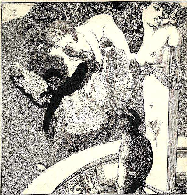Franz Von Bayros - senza titolo - lesbismo - erotismo - arte