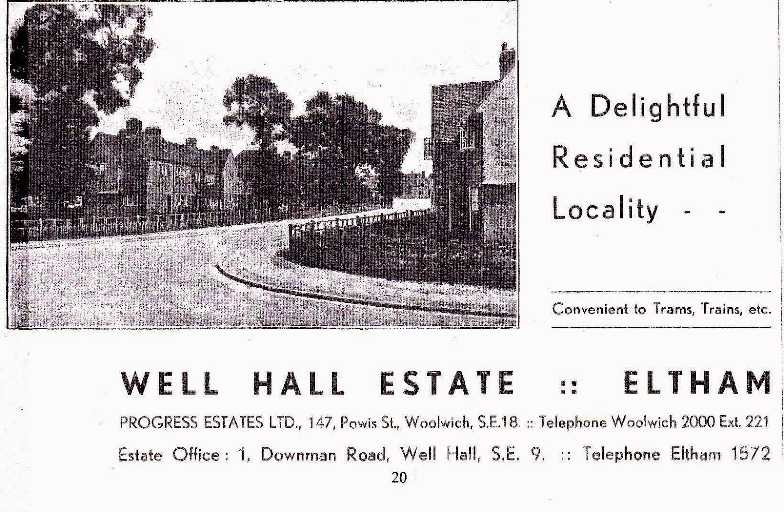 The Progress Estate, Eltham, SE9: Cover of an Early Well