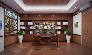 Thiết kế nội thất văn phòng giám đốc nhỏ tiện lợi - H3