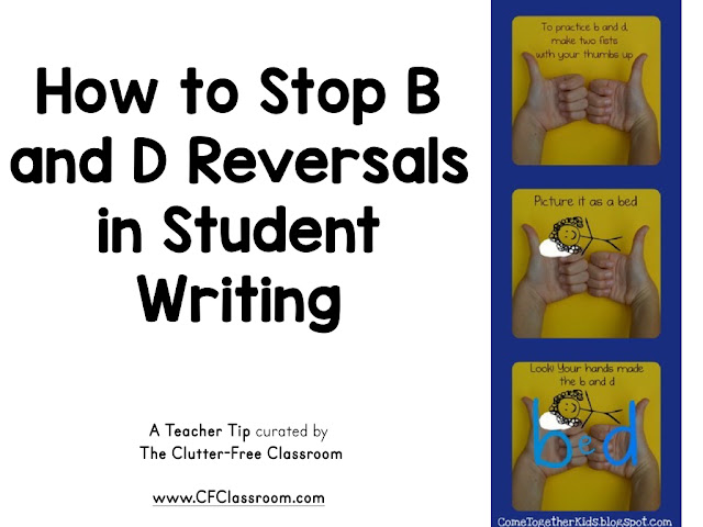 Reversing the letters B and D are a common mistake young students make. This trick will help kids write the letters correctly.
