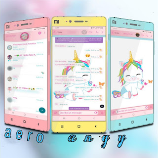 Unicorno Theme For YOWhatsApp & Fouad WhatsApp By angy fénix