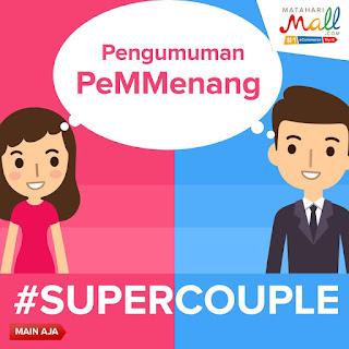 Info Pemenang - Pengumuman Pemenang #SUPERCOUPLE