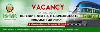 Landmark University Vacancy for the Post of University Librarian