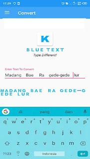 cara membuat tulisan berwarna biru tebal di facebook lite android