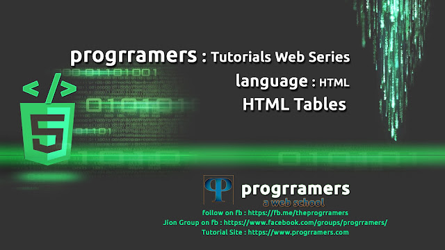 HTML5 Tutorial - HTML Tables