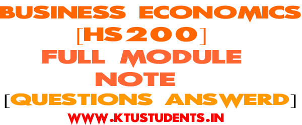 Business Economics Full Module Note[Questions and Answers]