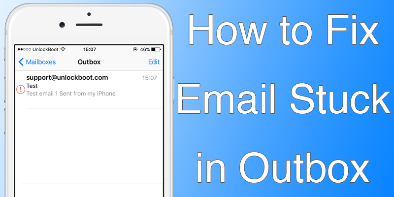 iPhone Email Stuck in Outbox