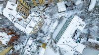 Заснеженные крыши Киева