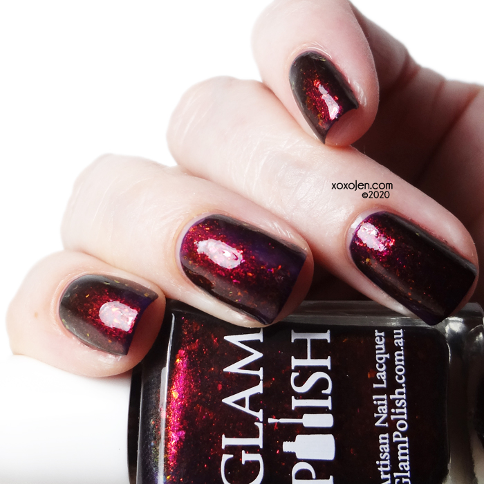"xoxoJen's swatch of Glam Polish Are You Still… ""Grrr""?"