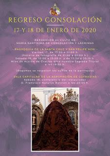Consolación y Lágrimas de Málaga regresa a San Felipe Neri