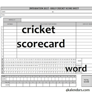 cricket scorecard doc