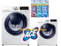 Logo Concorso ACE con Acqua&Sapone e La Saponeria: vinci 2 lavatrici Samsung QuickDrive! Anticipazione