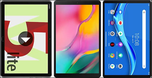 Huawei Mediapad M5 10 Lite vs Samsung Galaxy Tab A 10.1 (2019) 64 GB vs Lenovo Tab M10 FHD Plus