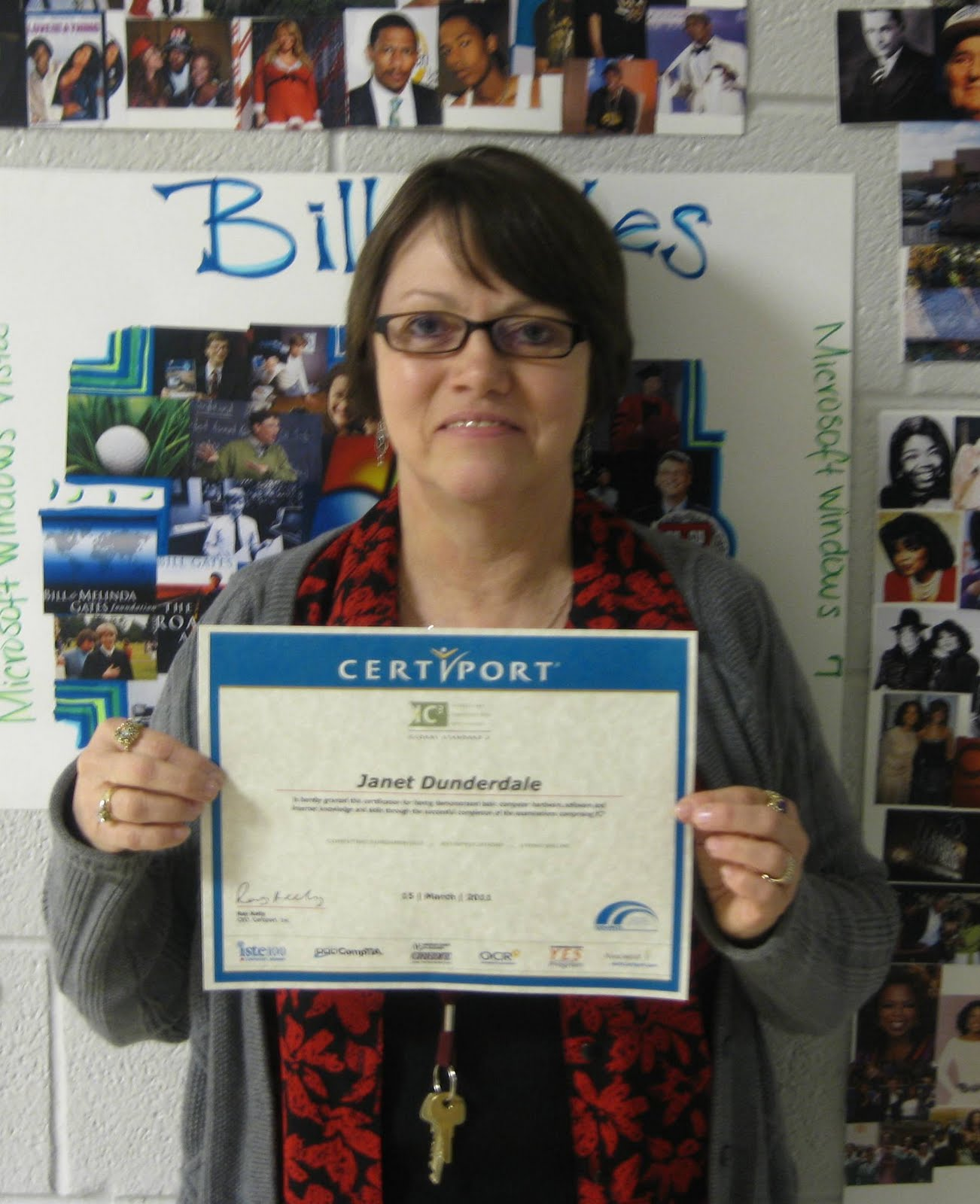 Warren Career Tech News!: Dunderdale Earns IC3 Certification