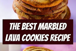 The Best Marbled Lava Cookies Recipe #cookies #holidaycookies #easycookies #dessert