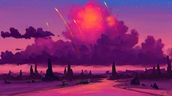 Camping, Sunset, River, Clouds, Sky, Landscape, Scenery, Digital Art, 4K, #6.2517