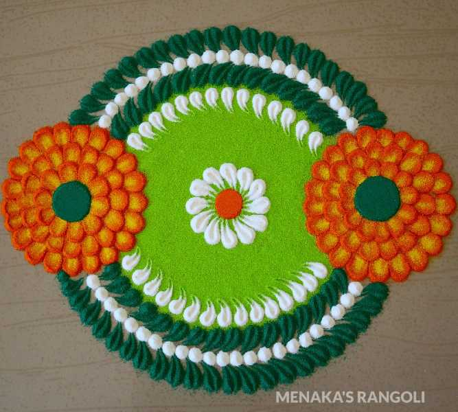creative and easy rangoli design