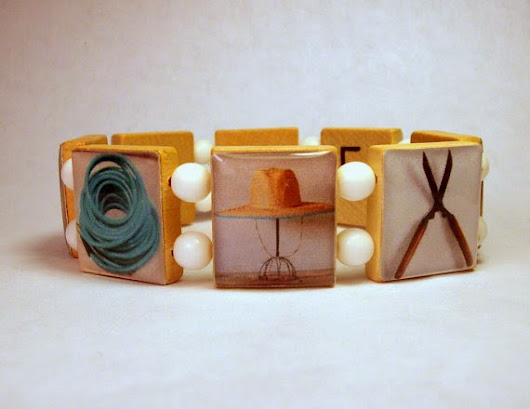 Christmas Gift Ideas - Handmade Jewelry - Upcycled Scrabble Tiles