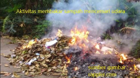 asap bakar sampah cemari udara
